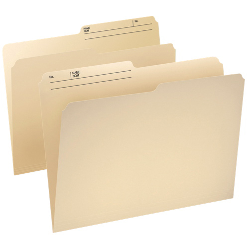 Esselte Cutless Watershed Top Tab File Folder (ESS48431C) - Legal - 100 Pack - Manilla