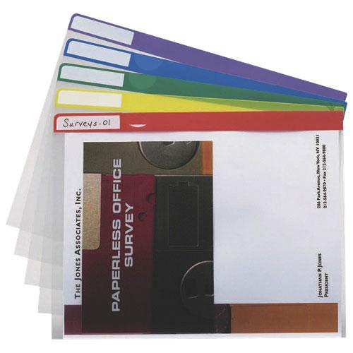 Chemises de projet d'Esselte (ESS50980C) - Lettre - Paquet de 5 - Couleurs variées