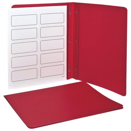 Esselte Oxford Panel & Border Report Covers (ESS52511) - Letter - 25 Pack - Red