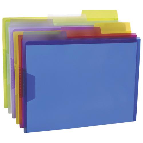 Chemises transparentes en polypropylène de Pendaflex (ESS52565) - Lettre - Paquet de 6 - Multicolore