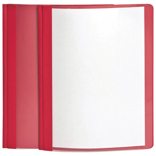 Esselte Oxford Clear Front Report Cover (ESS55811) - Letter - Red