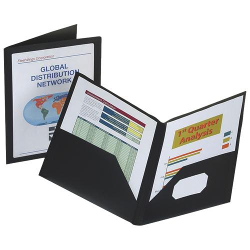 Esselte Viewfolio Pocket Portfolio (ESS57442C) - Letter - Black