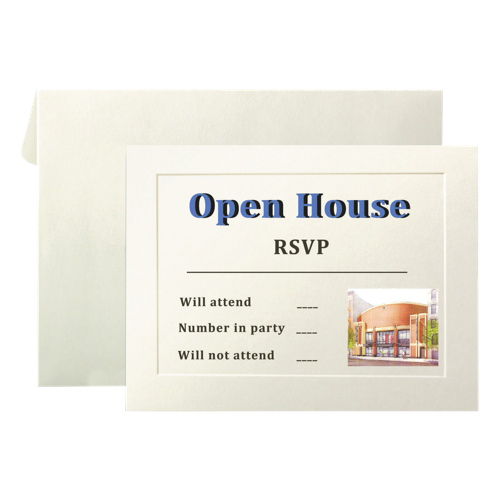 First Base Overtures Invitation Card (FST71011) - 40 Pack - Ivory