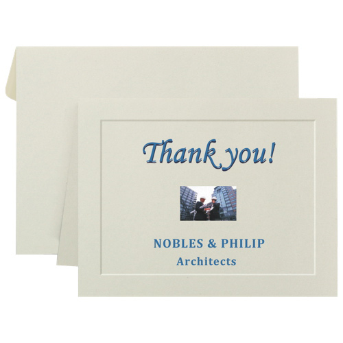First Base Note Card (FST71021) - 40 Pack - Ivory