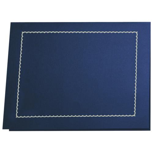 First Base Gold Folio Certificate Holder (FST83434) - 5 Pack - Blue