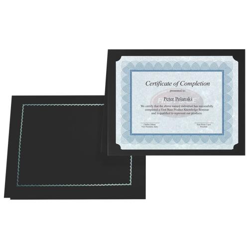 First Base Gold Foil Stamped Certificate Holder (FST83464) - 5 Pack - Black