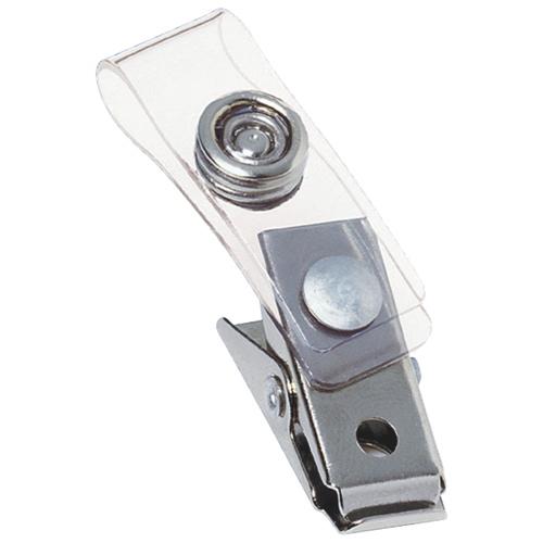 GBC ID Badge Holder (GBC00111) - 100 Pack - Silver
