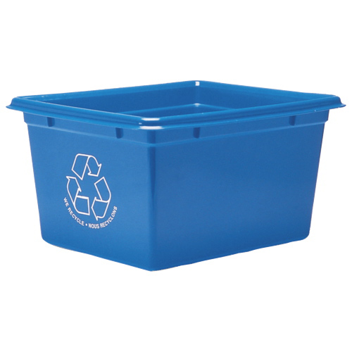 Fellowes Blue Box Office Recycling Container (FEL04750) - Blue