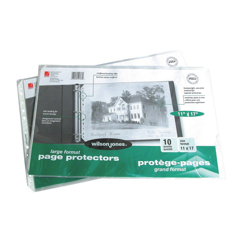 Wilson Jones Multi Punched Page Protectors (WLJ12703) - 10 Pack - Clear