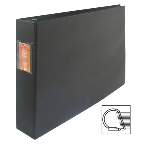"Wilson Jones Large Format 1.5"" Tabloid D-Ring Binder (WLJ13601) - Black"