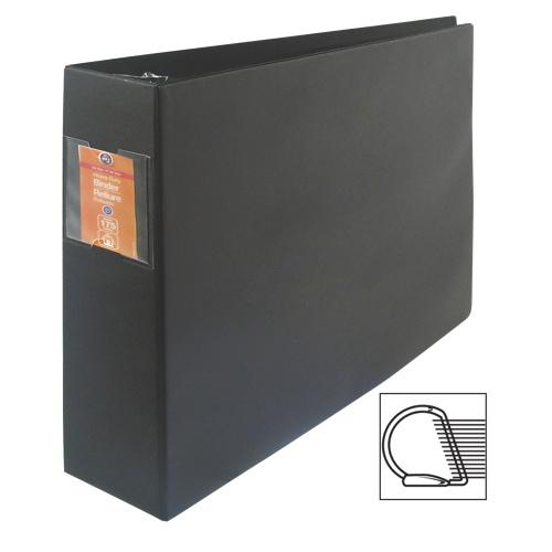 "Wilson Jones Large Format 2"" Tabloid D-Ring Binder (WLJ13602) - Black"