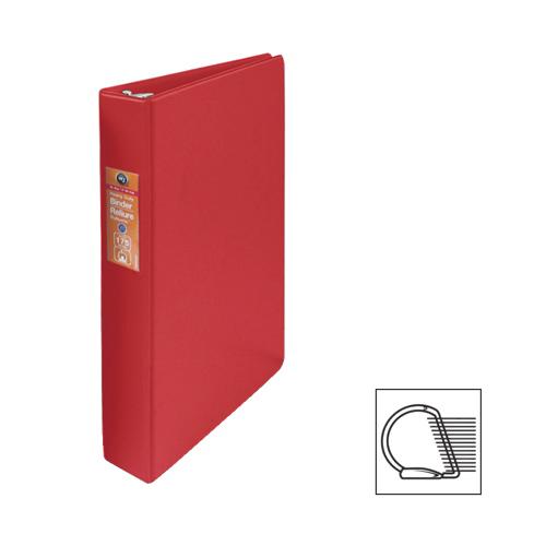 """Wilson Jones 1"""" D-Ring Binder (WLJ13809) - Red"""