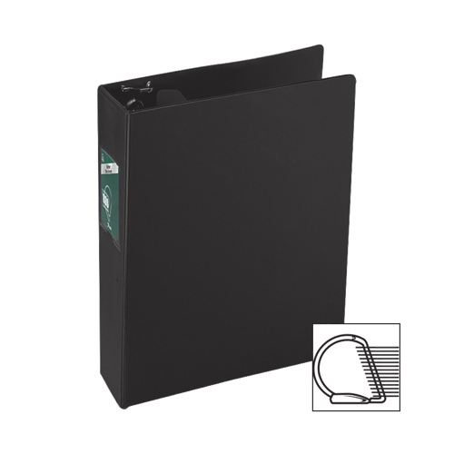 "Wilson Jones 2"" Slant D-Ring Binder (WLJ13861) - Black"