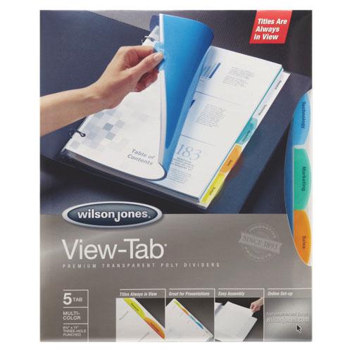 Wilson Jones View-Tab Transparent Divider (WLJ55065) - 5 Set