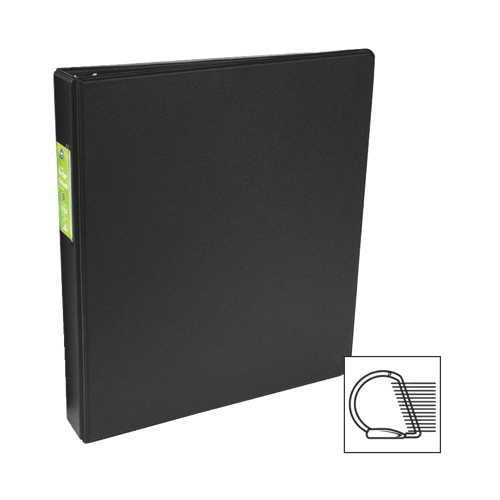 "Wilson Jones 1.5"" D-Ring Binder (WLJ61121) - Black"