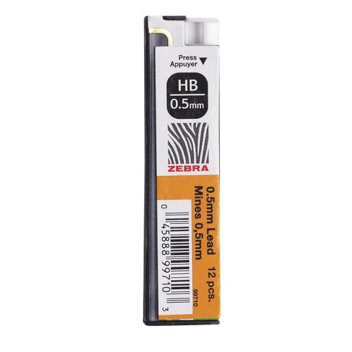 Recharge de porte-mine à pointe fine de Zebra Pen (ZEB99710) - Paquet de 12