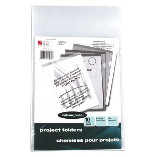 Wilson Jones See-Through Project Folder (WLJ11271) - 10 Pack