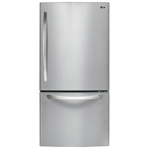 LG 23.8 Cu.Ft. Bottom Mount Refrigerator (LDC24370ST) - Stainless Steel