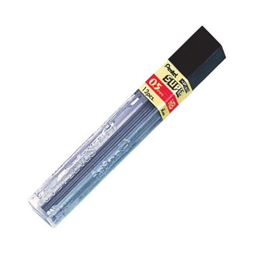 Pentel Super Hi-Polymer 0.5mm Lead (PENC505-HB) - 1 Pack - Black