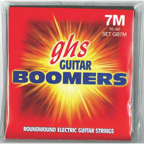 GHS Guitar Boomers Roundwound Electric Guitar Strings (GB7M)