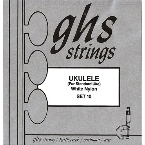 GHS White Nylon Set 10 Ukulele Strings