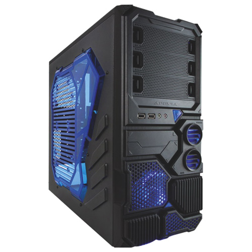 Apevia X-Sniper 2 Mid-Tower Computer Case - Blue