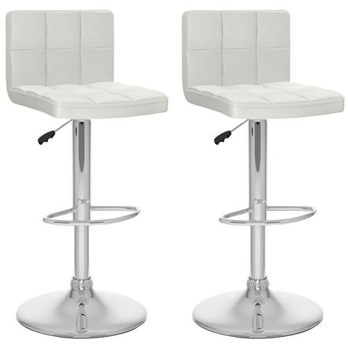 tabouret de bar contemporain hauteur r glable ensemble de 2 blanc tabourets de bar. Black Bedroom Furniture Sets. Home Design Ideas