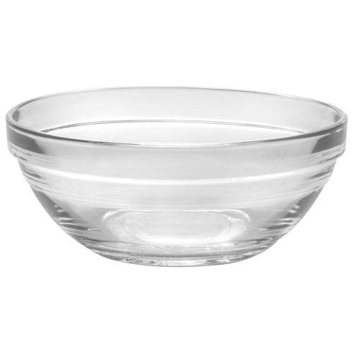 Bols en verre empilables Lys 4,7 po de Duralex - Ensemble de 6 - Transparent