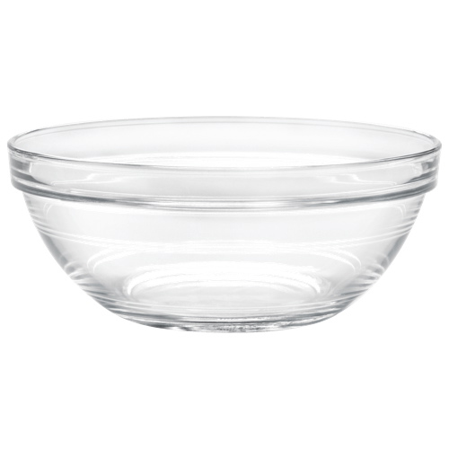 """Duralex Lys 6.7"""" Stackable Glass Bowl - Set of 6 - Clear"""