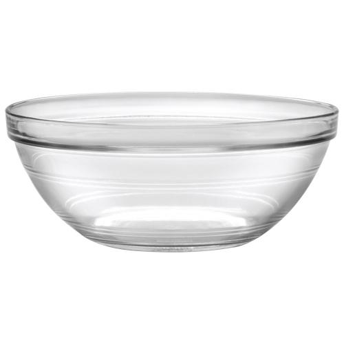 Bols en verre empilables Lys 9,1 po de Duralex - Ensemble de 6 - Transparent