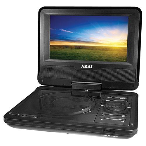 Lecteur DVD portatif de 7 po d'Akai (AKPDVD701) - Noir