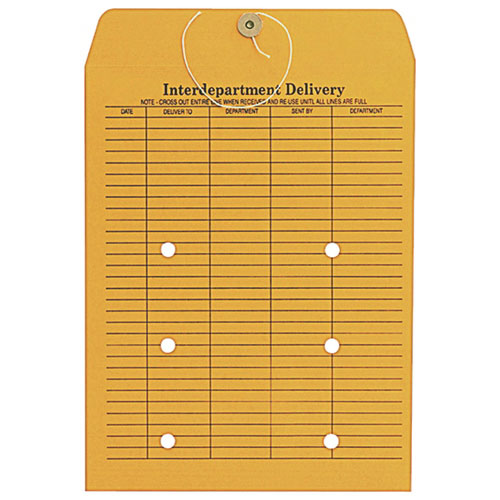 Enveloppe courrier interne 10 x 13 po de Quality Park (QUACO880) - Paquet de 100