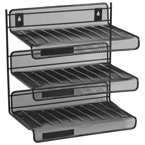 Tablettes à 3 niveaux pour bureau de Rolodex (ROL22341) - Noir