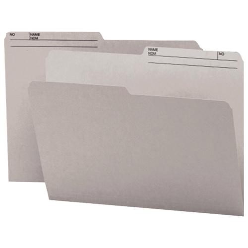 Chemises à onglets supérieurs de Smead (SMD10363) - Format lettre - Paquet de 100 - Gris