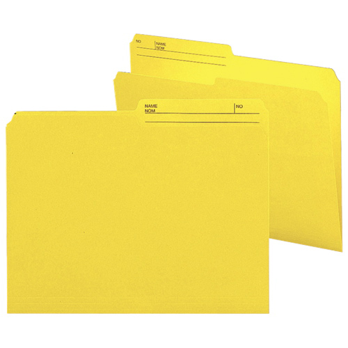 Smead Top-Tab File Folder (SMD10374) - Letter - 100 Pack - Yellow