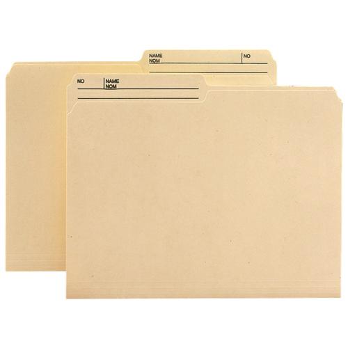 Chemises à onglets supérieurs de Smead (SMD10377) - Format lettre - Paquet de 100 - Assorti