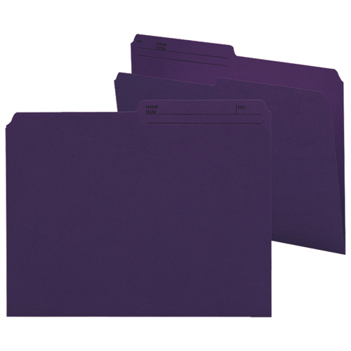 Smead Top-Tab File Folder (SMD10378) - Letter - 100 Pack - Purple