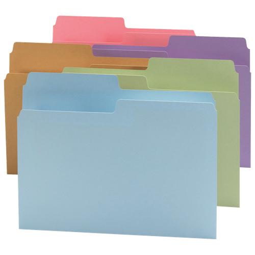 Smead Top-Tab File Folder (SMD11907) - Letter - 24 Pack - Assorted