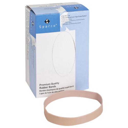 Sparco Pure Rubber Bands (SPR107-1LB) - 1 Lb - Natural