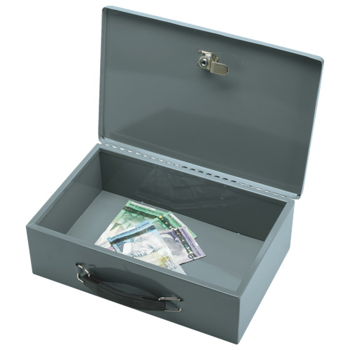 Sparco All-Steel Insulated Cash Box (SPR15502) - Grey