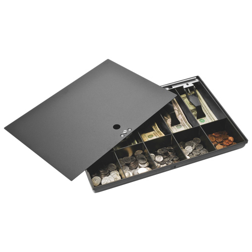 Sparco's Locking Cover Money Tray (SPR15505) - Black