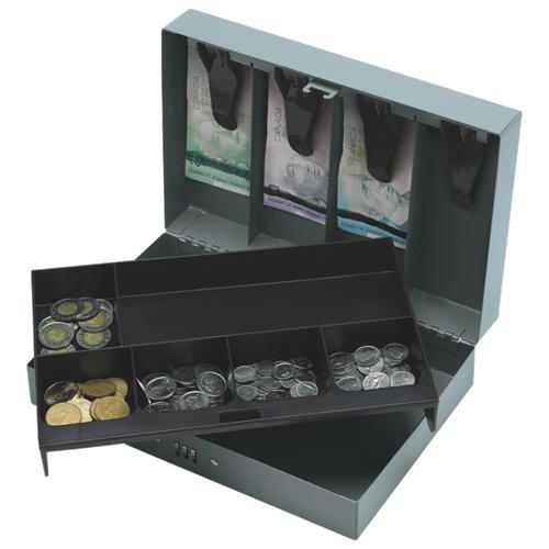 Sparco's Steel Combination Lock Cash Box (SPR15508) - Grey