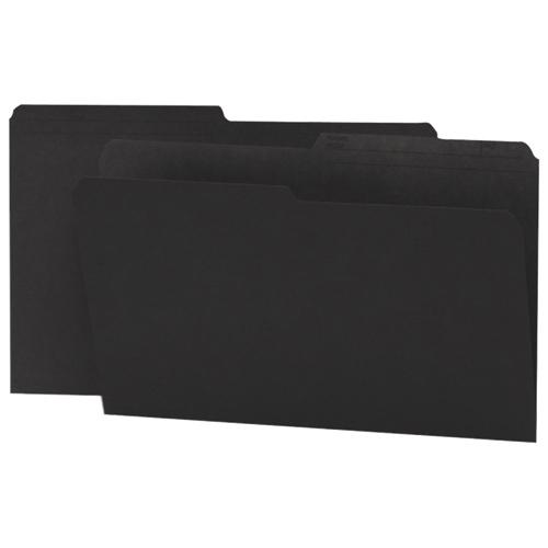 100 chemises grand format à onglets supérieurs de Smead (SMD15364) - Noir
