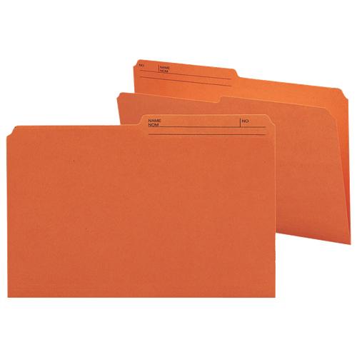 100 chemises grand format à onglets supérieurs de Smead (SMD15370) - Orange