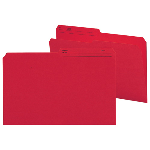 Smead Legal Top-Tab File Folder (SMD15372) - 100 Pack - Red