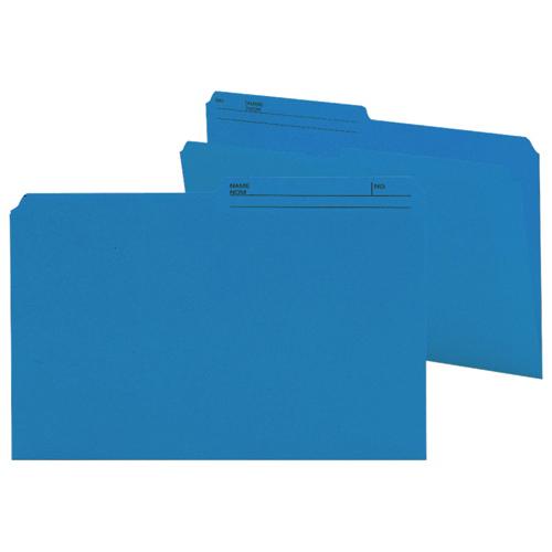100 chemises grand format à onglets supérieurs de Smead (SMD15373) - Bleu