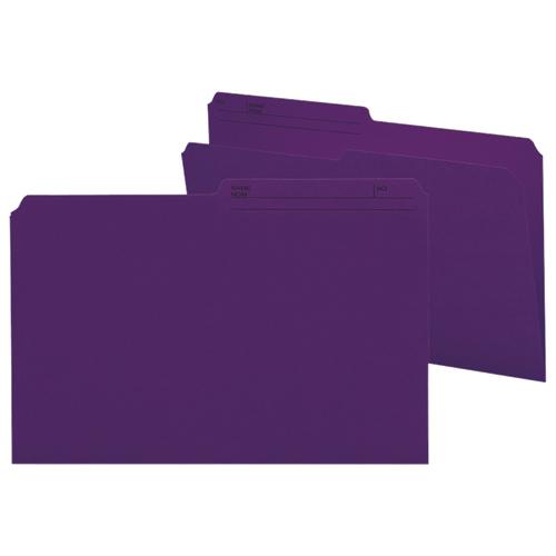 100 chemises grand format à onglets supérieurs de Smead (SMD15378) - Violet