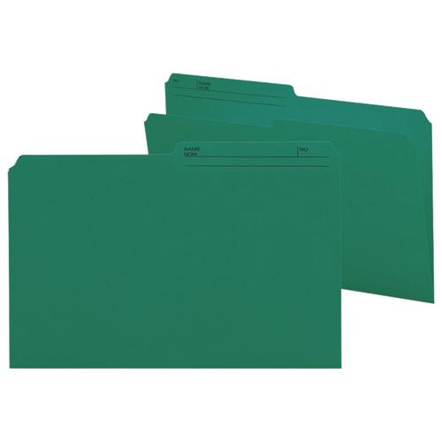 100 chemises grand format à onglets supérieurs de Smead (SMD15379) - Bleu sarcelle