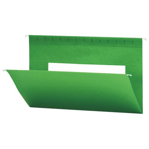 Smead Flex-I-Vision Coloured Hanging Folder (SMD64478) - Legal - 25 Pack - Green