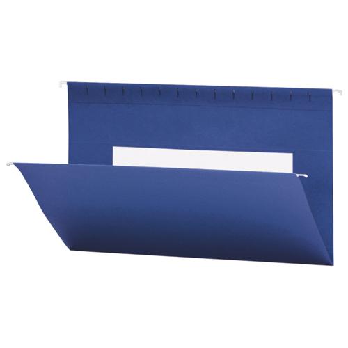 Chemise suspendue colorée Flex-I-Vision de Smead (SMD64484) - Ministre - Paquet de 25 - Bleu marine